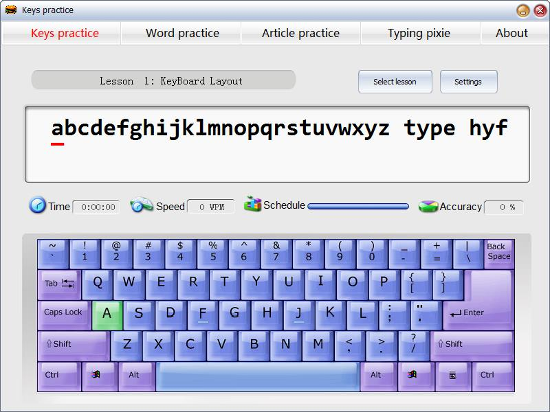 Windows 7 Typing Test Pixie 2.7 full